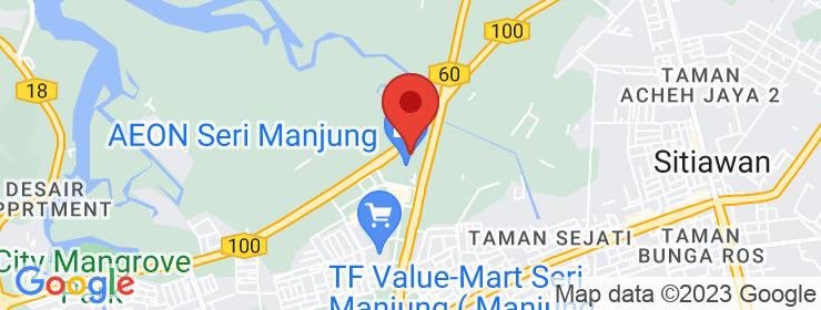 Map of Deif Kaffee   Bandar Manjung