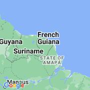 Le thème La Guyane sur notre carte histoire-géo