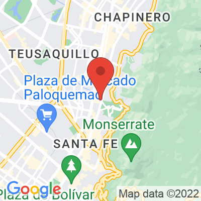 Map showing Café Mundano