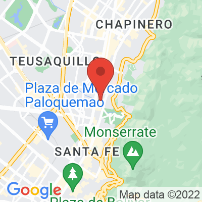 Map showing Varietale (Chapinero)