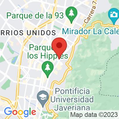 Map showing Café Devoción