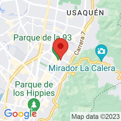 Map showing Amor Perfecto (Libreria Lerner)