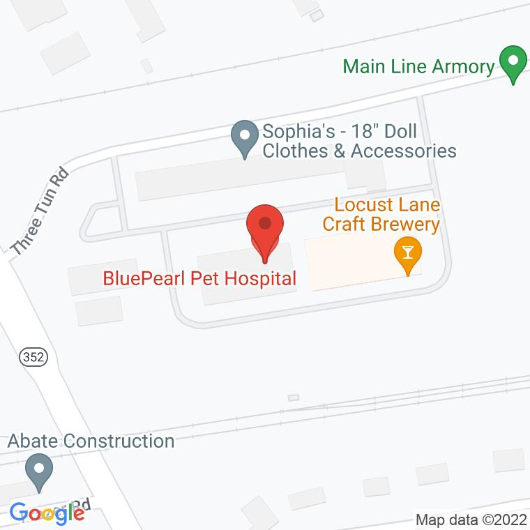 Google Map of 40 Three Tun Rd., Malvern, PA 19355, 40 Three Tun Rd., Malvern, PA 19355