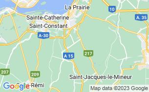 Map of Camping Amérique Montréal