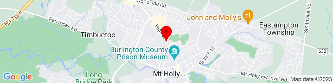 Google Map of 40.0013164, -74.7919111