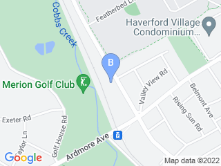 Map of Ivens Bronstein Veterinary Hospital Dog Boarding options in Ardmore | Boarding