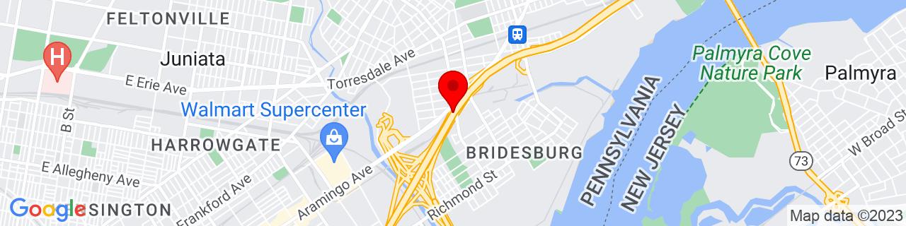 Google Map of 40.0032638, -75.0776338
