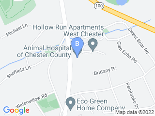 Map of Animal Hospital of Chester County Dog Boarding options in West Chester | Boarding