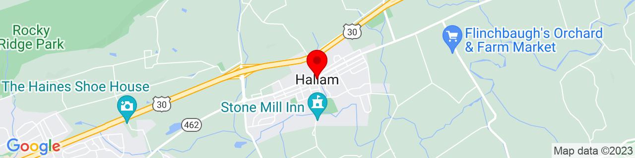 Google Map of 40.00482, -76.6041322