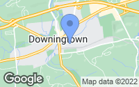Map of Downingtown, PA
