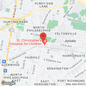 Map of Burger King at 100 West Erie Ave, Philadelphia, PA 19140