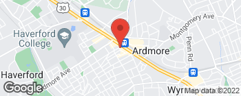 Map of 19 Cricket Ave in Ardmore