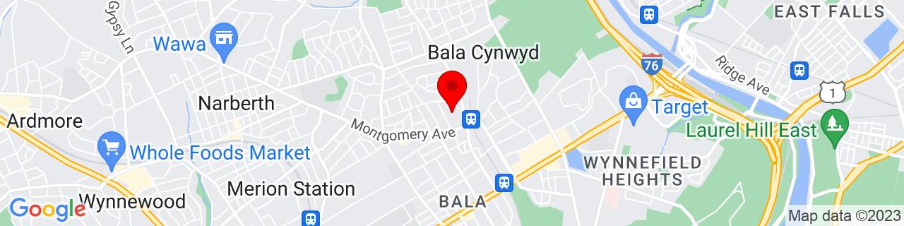 Google Map of 40.0075, -75.23416666666667