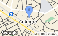 Map of Ardmore, PA