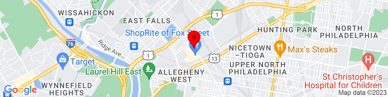 Google Map of 40.0108823, -75.17494169999999