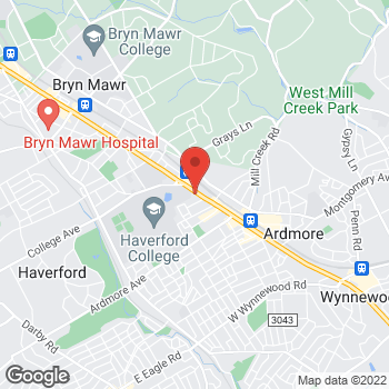 Map of BAYADA Assistive Care at 354 West Lancaster Ave, Haverford, PA 19041