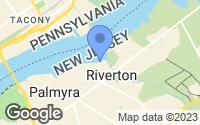 Map of Riverton, NJ