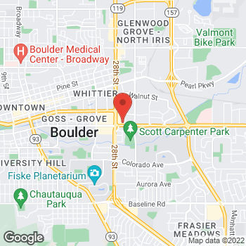 Map of Staples at 1601 29th St., Boulder, CO 80301