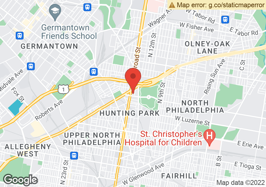 Google Map of 4201 N BROAD ST