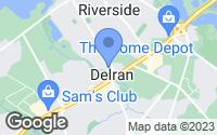 Map of Delran, NJ