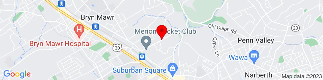 Google Map of 40.0185418, -75.2933578