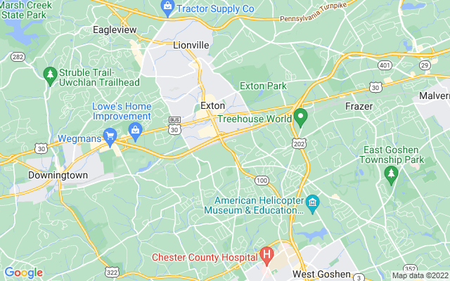 Exton on the map