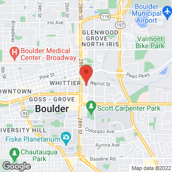 Map of Panera Bread at 1855 29th Street, Boulder, CO 80301