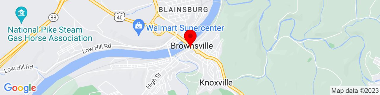 Google Map of 40.0236854, -79.8839357