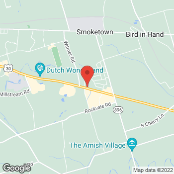 Map of Panera Bread at 2405 Covered Bridge Road, Lancaster, Pennsylvania 17602