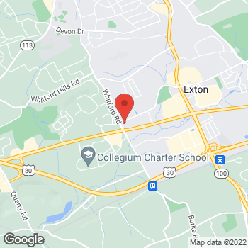 Map of BAYADA Home Health at 390 Waterloo Blvd, Exton, PA 19341