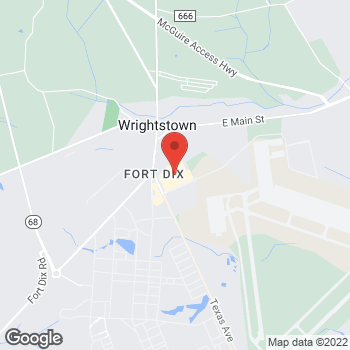 Map of Arby's at 3452 Broidy Road, Ft. Dix, NJ 08641