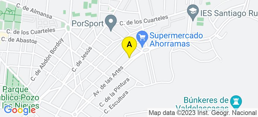 situacion en el mapa de . Direccion: Avda. Las Artes 57, 28300 Aranjuez. Madrid