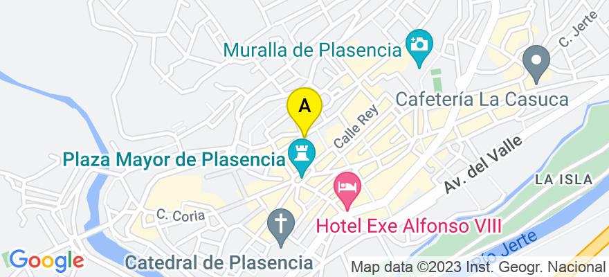 situacion en el mapa de . Direccion: C/ PEDRO ISIDRO, 12, 10600 Plasencia. Cáceres