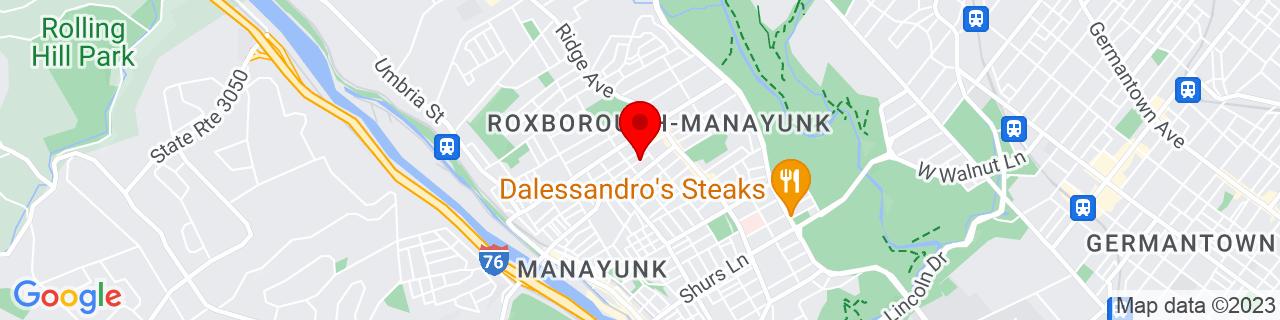 Google Map of 40.03309050000001, -75.218887
