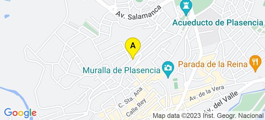 situacion en el mapa de . Direccion: Calle Sor Valentina Mirón 60, 10600 Plasencia. Cáceres