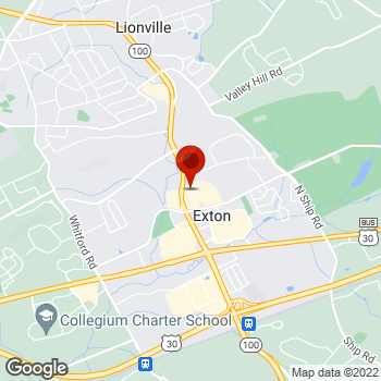 Map of Staples® Print & Marketing Services at 105 E Swedesford Rd, Exton, PA 19341