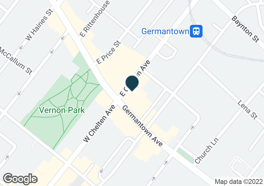 Google Map of5627 GERMANTOWN AVE