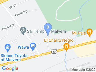 Map of Great Valley Pet Hotel Dog Boarding options in Malvern | Boarding