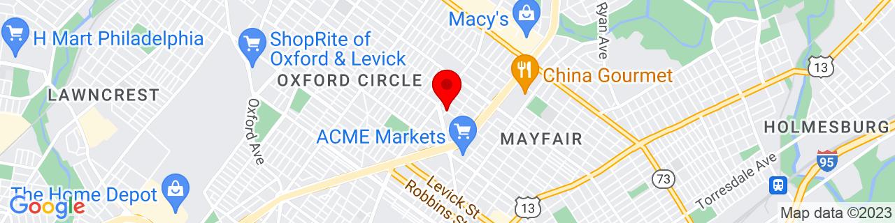 Google Map of 40.039848, -75.0644853
