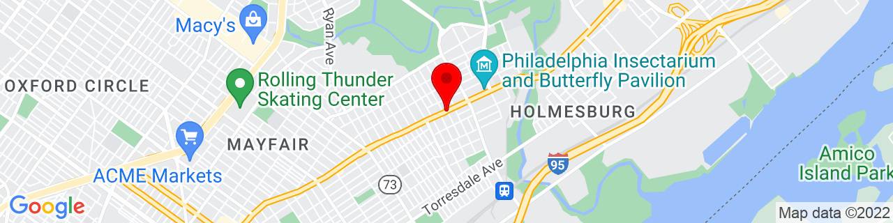 Google Map of 40.0403842, -75.0309758