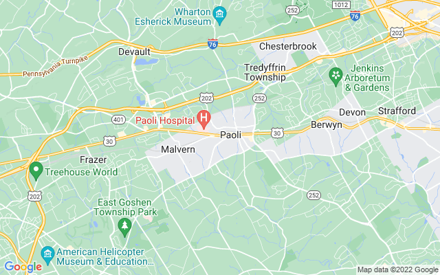 Paoli on the map