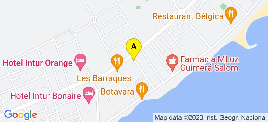 situacion en el mapa de . Direccion: Ibiza, 13, 12560 Benicasim. Castellón de la Plana