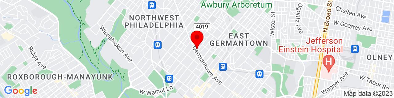 Google Map of 40.0415331, -75.1791229