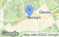 Map of Berwyn, PA