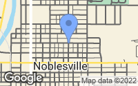 Map of Noblesville, IN