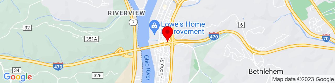Google Map of 40.05147669999999, -80.7229392