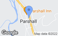 Map of Parshall, CO