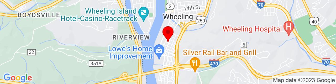 Google Map of 40.057549, -80.72426899999999