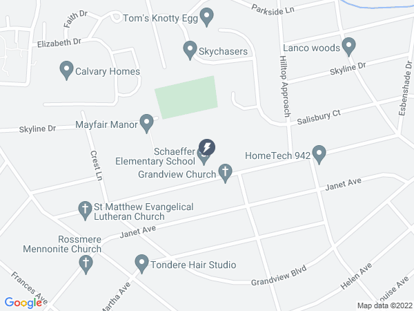 Map to Schaeffer Elementary School