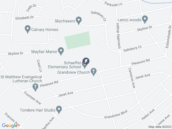 Map to Schaeffer Elementary School